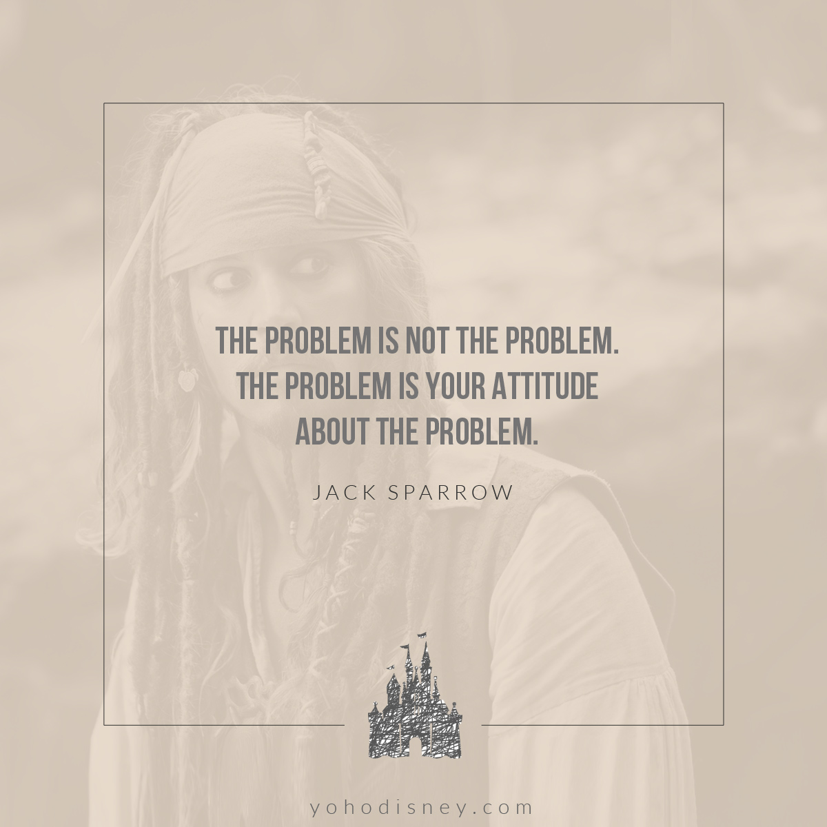 Jack Sparrow Quote // Disney's Pirates of the Caribbean