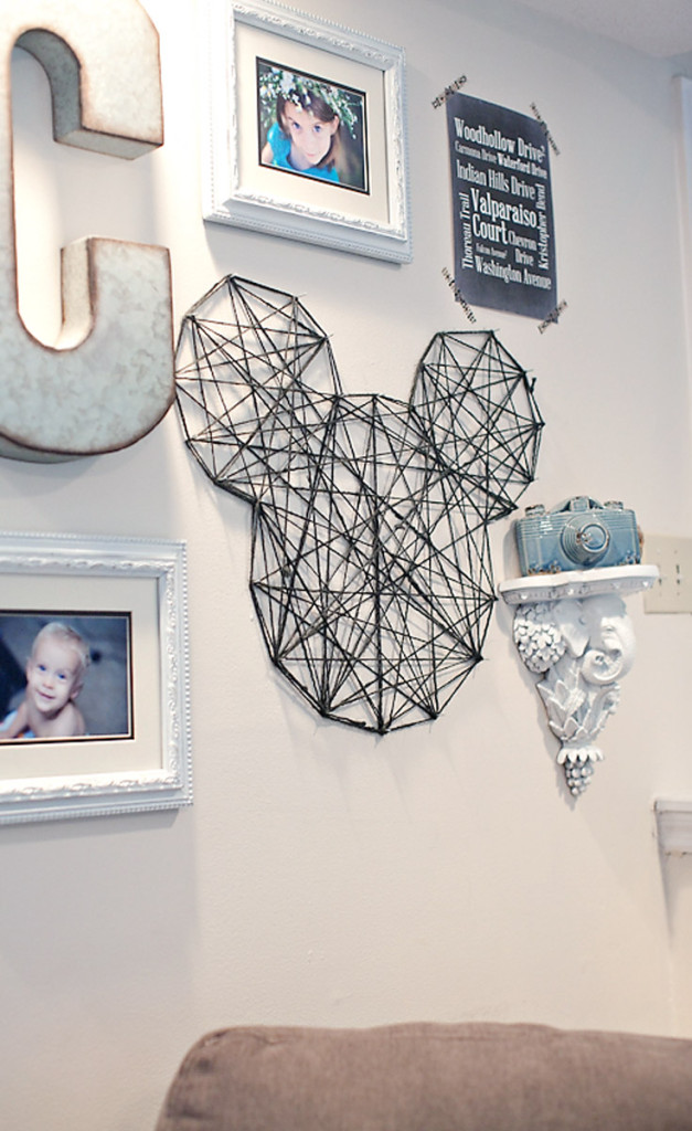 How to Make Twine Mickey Wall Art