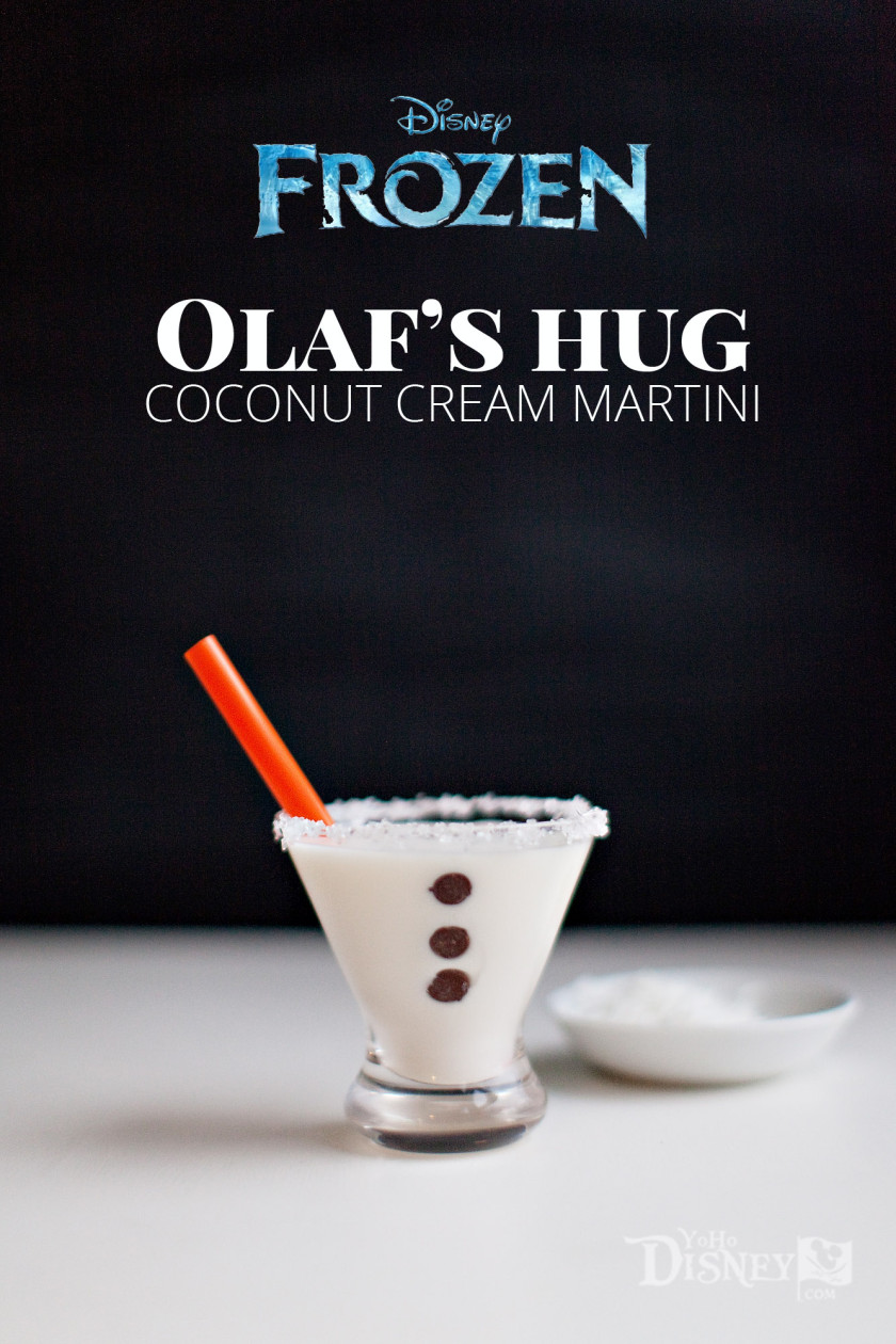 Olaf's Hug -- Coconut Cream Martini {A Disney Inspired Cocktail}