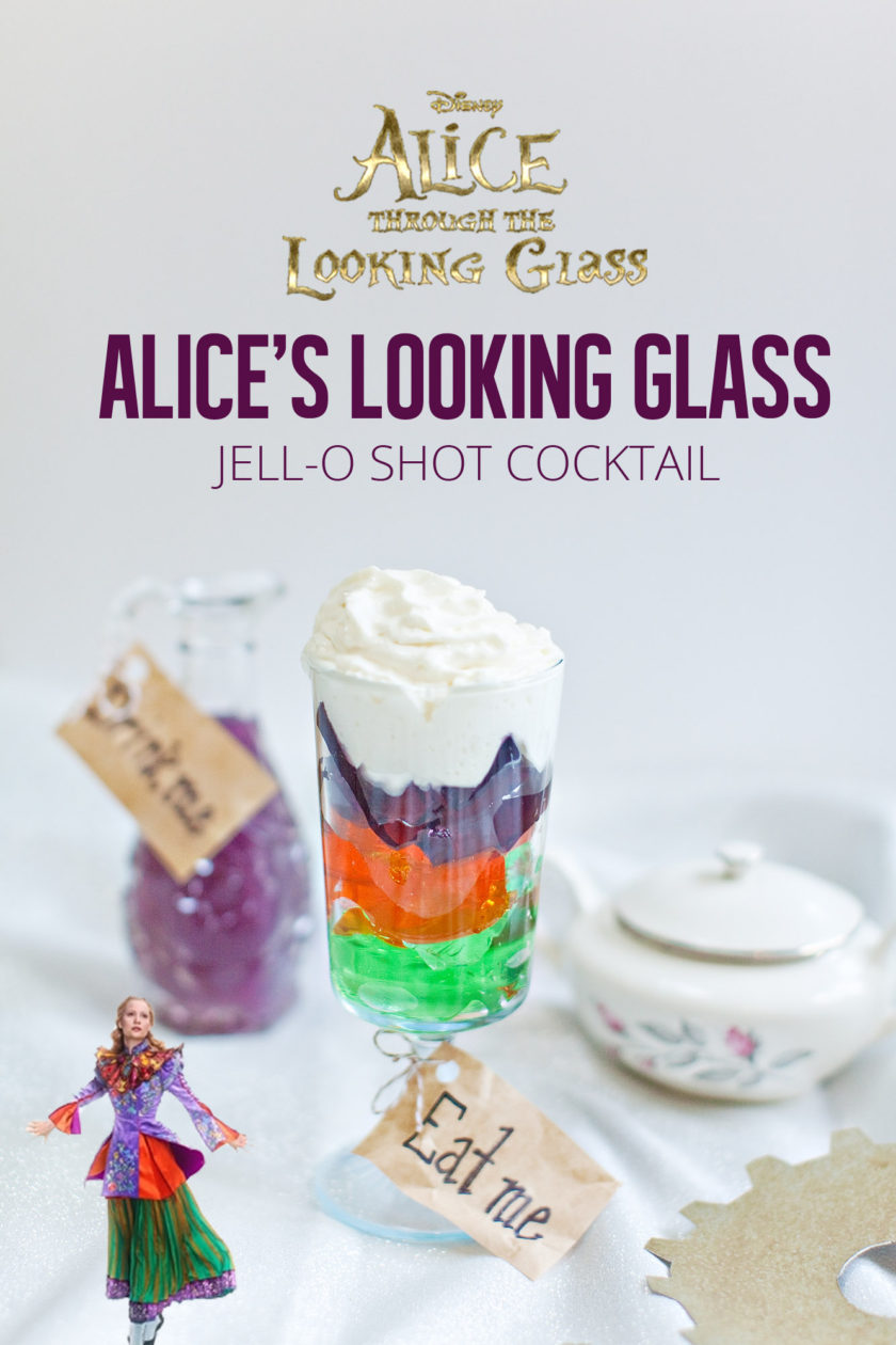 Alice's Looking Glass -- Jell-o Shot {A Disney Inspired Cocktail}