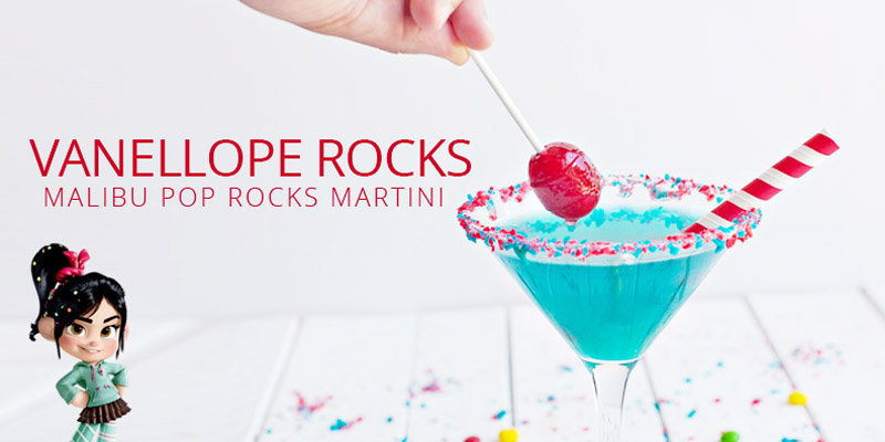 Vanellope Rocks -- Malibu Pop Rocks Martini {Disney Inspired Cocktail}