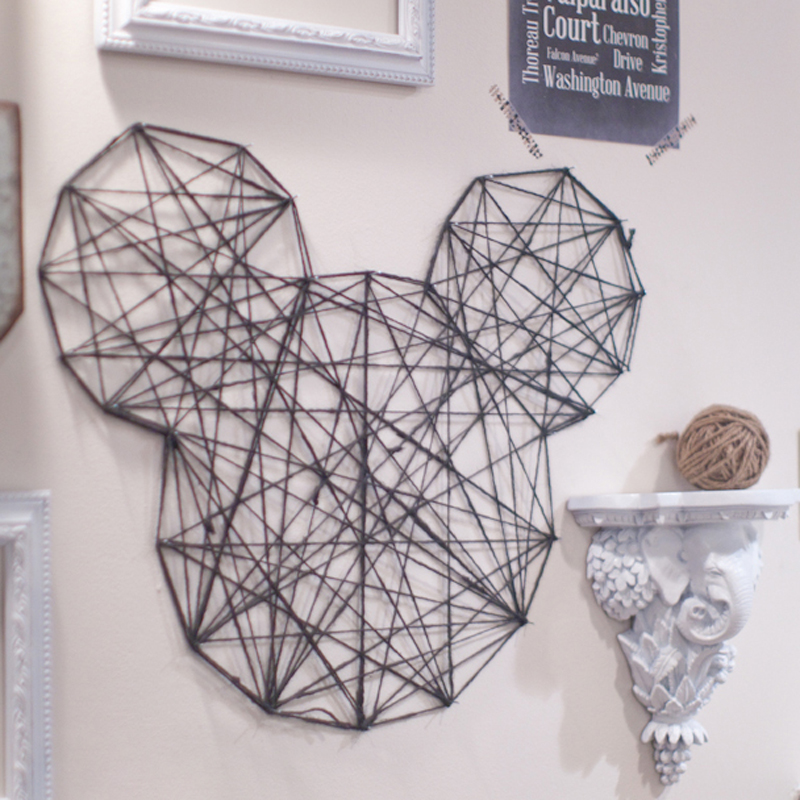 How to Make a Mickey Wall Decor