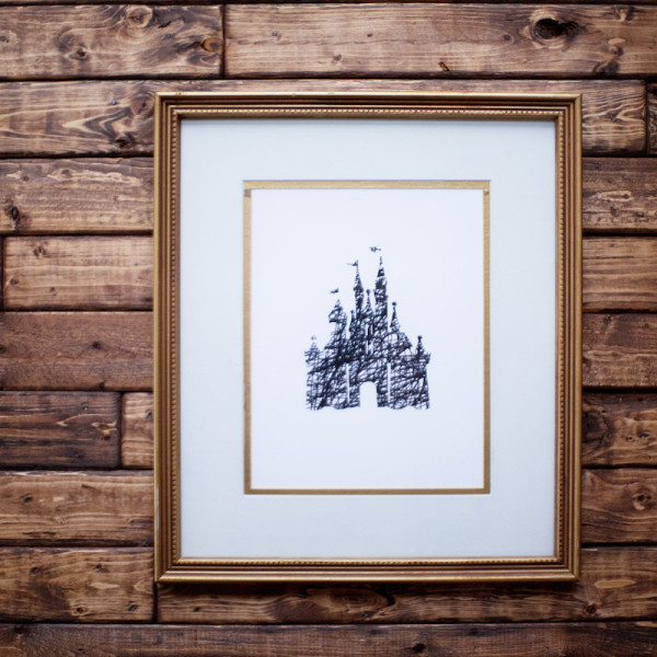 Disney Parks Scribble Art {Free Printable}